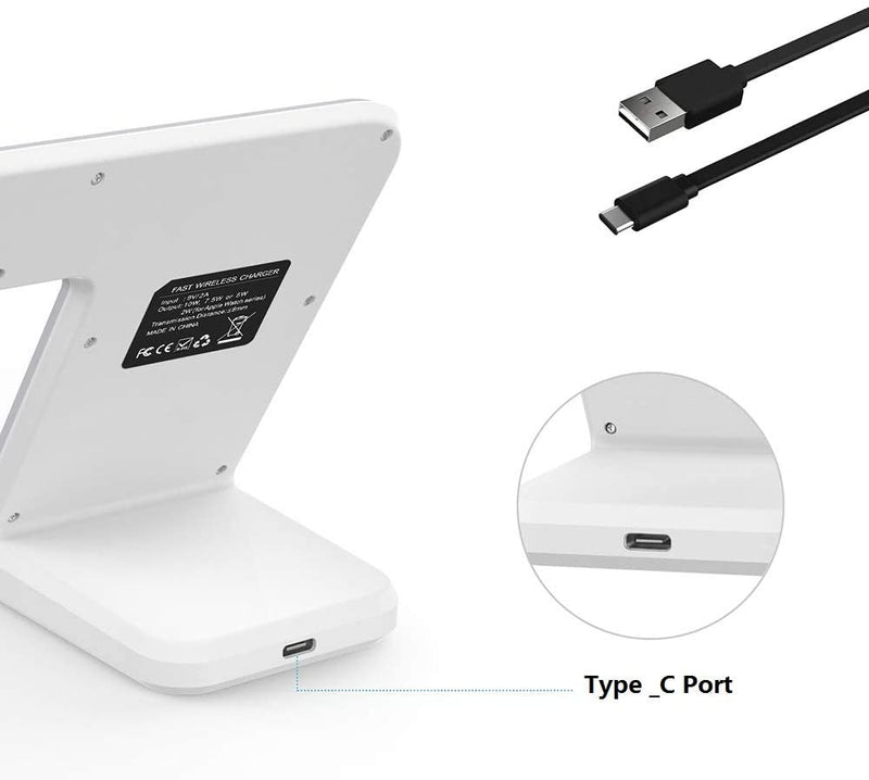 Fast Wireless Charging Stand 2 in 1 Compatible with Apple & Samsung (QC 3.0 Adapter Included) - Madshot