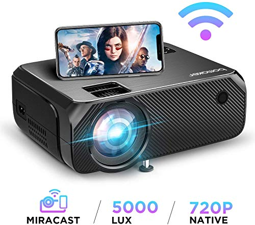 Mini Wifi Projector, Upgraded 5000 Lux, Full HD 1080P and 300'' Display SupportedProjectors - Madshot