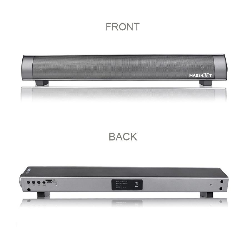 Wireless Computer 5.0 Sound Bar Speaker with Strong Bass for PC Cellphone Desktop Tablet