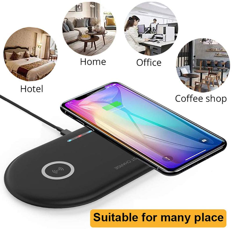 Wireless Charger, Ultra-Slim Dual 10W Phone Charger with QC3.0 AdapterWireless Charger - Madshot