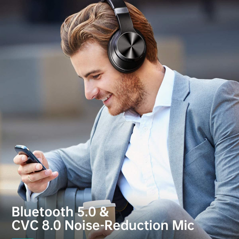 Hybrid Active Noise Cancelling Headphones, Madshot MDT250 Over Ear Wireless Bluetooth Headphone with CVC 8.0 Mic, Deep Bass, Hi-Fi Sound, Comfortable Protein Earpads, 30H Playtime for Travel/WorkHeadphone - Madshot