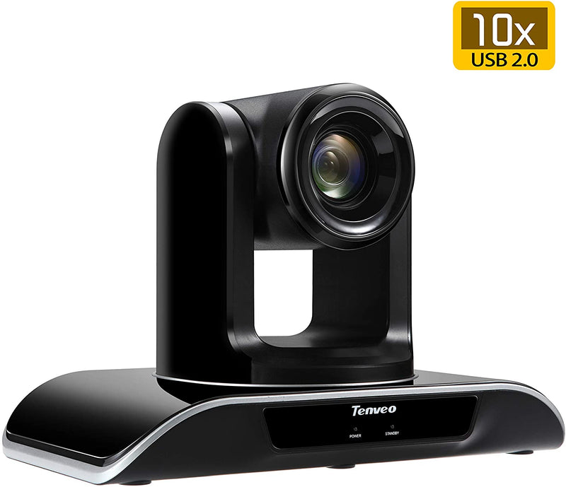 Video Conference Camera 10X Optical Zoom Full HD 1080p USB PTZ Camera for Business MeetingsAudio & Video Accessories Black - Madshot