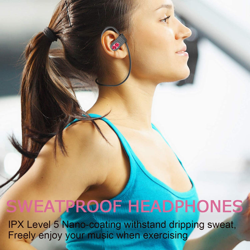 Bluetooth Wireless Noise Cancelling Around-Neck Earphone for Running Workout Sweat-proof Stereo w/MicEarphone - Madshot