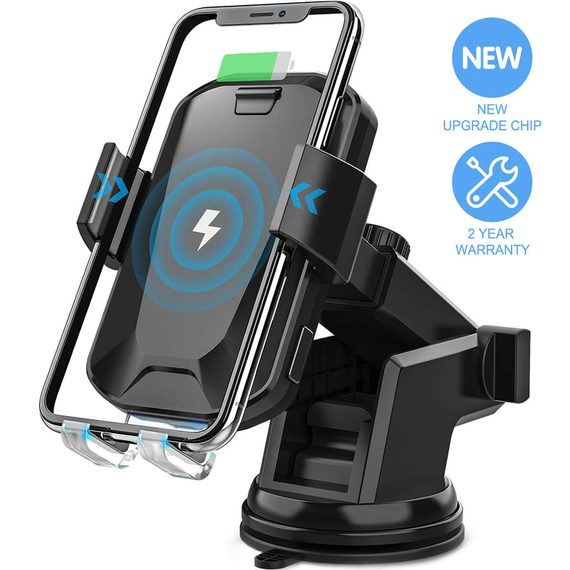 Wireless Car Charger, Madshot 10W Qi Fast Charging Auto Clamping Car Mount Windshield Dashboard Air Vent Phone HolderCar & Vehicle Electronics - Madshot