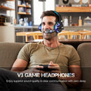 Madshot- Gaming Headset Stereo Bass Surround, Over Ear Gaming Headphones with Noise Cancelling Mic LED Light, - Madshot