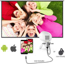 Projector 1080P Supported Stand, Compatible with Video Games, DVD, PC, Stereo Speaker - Madshot