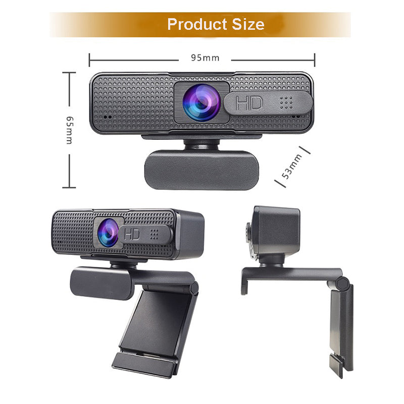 Madshot Clic Pro Stream Webcam HD Computer PC with Microphone Rotatable Cameras for Live Broadcast Video Calling Conference Work– Full 1080p HDAudio & Video Accessories - Madshot