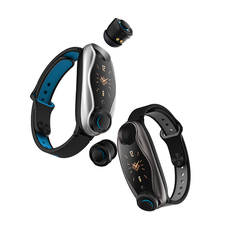Smart Bracelet Earbuds - 2 in 1 Combo Running Music Wristband Heart Rate TWS