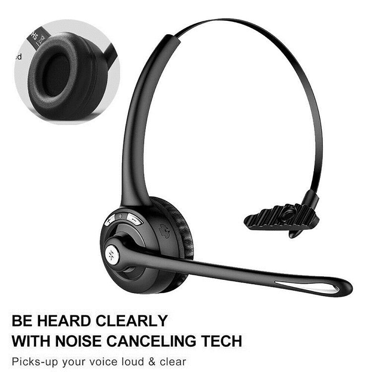 Madshot- Pro Trucker Bluetooth Headset Office Wireless Headset with Mic - Madshot