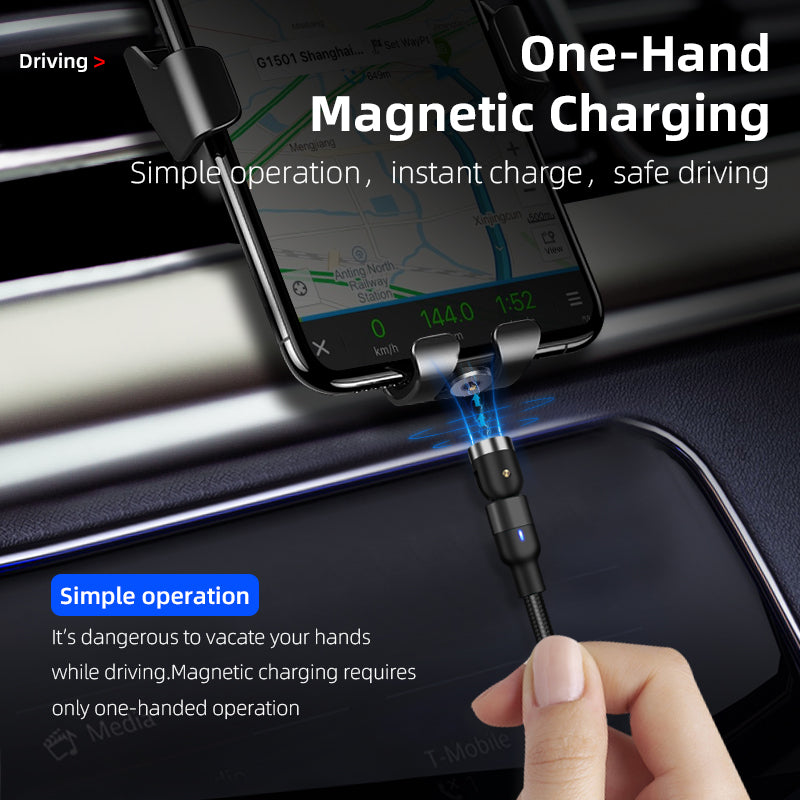 Magnetic Charging Cable 3 in 1 Nylon Braided LED LightingCable Charger - Madshot