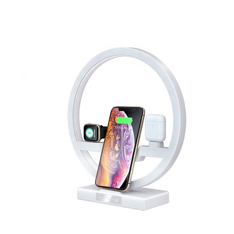 Fast Wireless Charger with Nightlight, 3 in 1 Charging Station Holder for Apple Watch, Airpods, Charger for iPhone & Samsung
