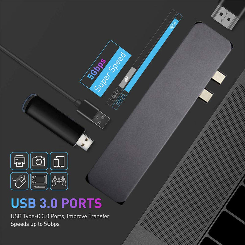 Madshot- 6 in 1 USB PD Charging 4K HDMI Video Audio TF SD Carder AdapterUSB HUB - Madshot