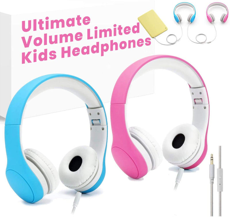 [Volume Limited] Kids Safety Foldable On-Ear Headphones with Mic, Volume Controlled at Max 93dB to Prevent Noise-induced Hearing Loss (NIHL), Passive Noise ReductionKids headphone - Madshot