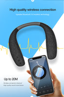 Wireless Over Neck Speaker for Home Theatre and Gaming - Personal Neckband Headphone System with Reactive Vibration