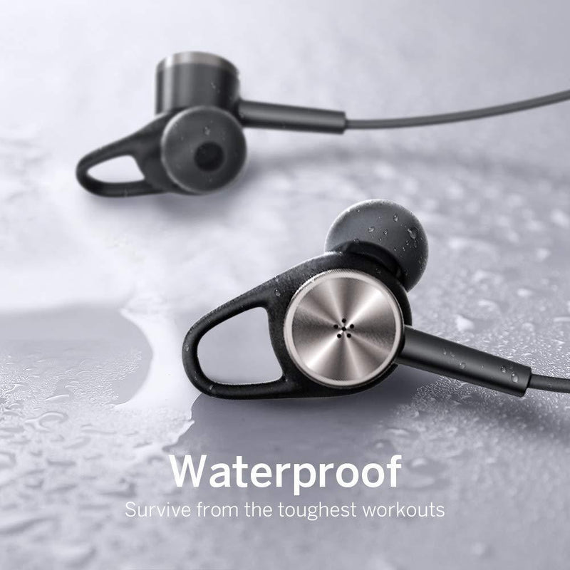 Neckband Headphones with Inline Mic, Noise Cancellation and IPX6 Water Resistant Built-in MagnetsHeadphone - Madshot