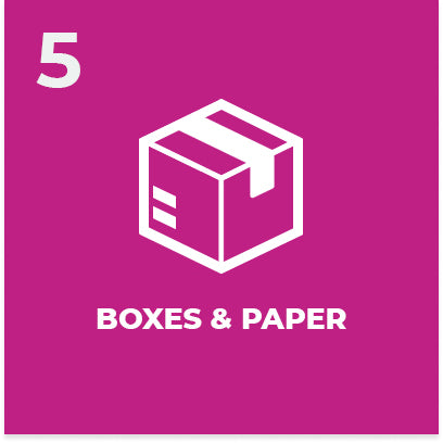Boxes and paper