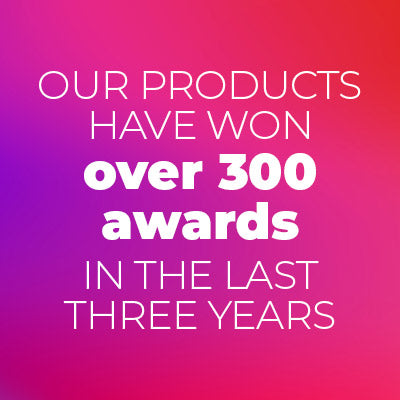 Our products have won over 300 awards in the last three years