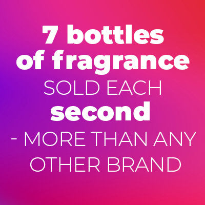 7 bottles of fragrance sold each second (more than any other brand)