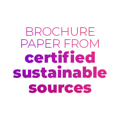brochure paper from certified sustainable sources