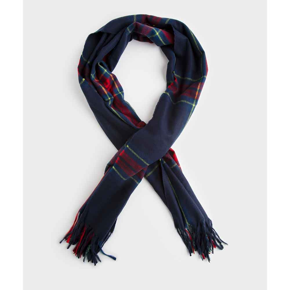 Winter Spice-Scented Checked Scarf