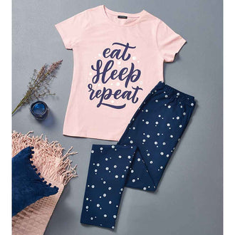 Eat Sleep Repeat Cotton PJs