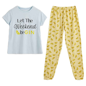 Let the Weekend Be Gin PJs
