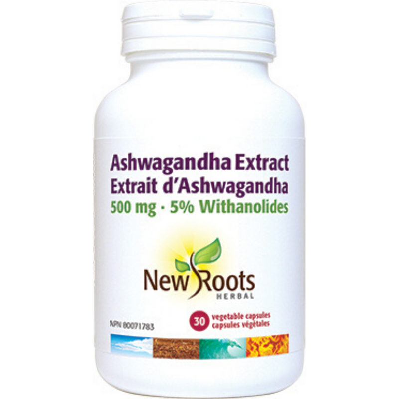 New Roots Ashwagandha Extract 500mg 30vcaps