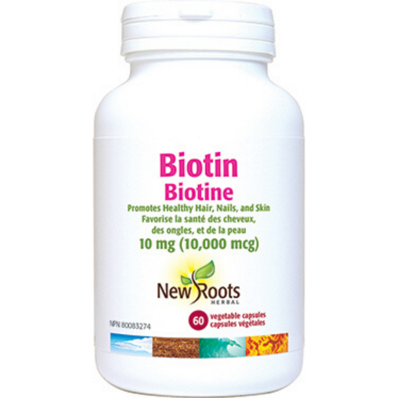 New Roots Biotin 10mg 60vcaps