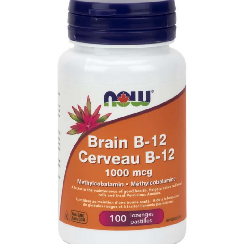Now Brain B-12 1000mcg 100 tabs
