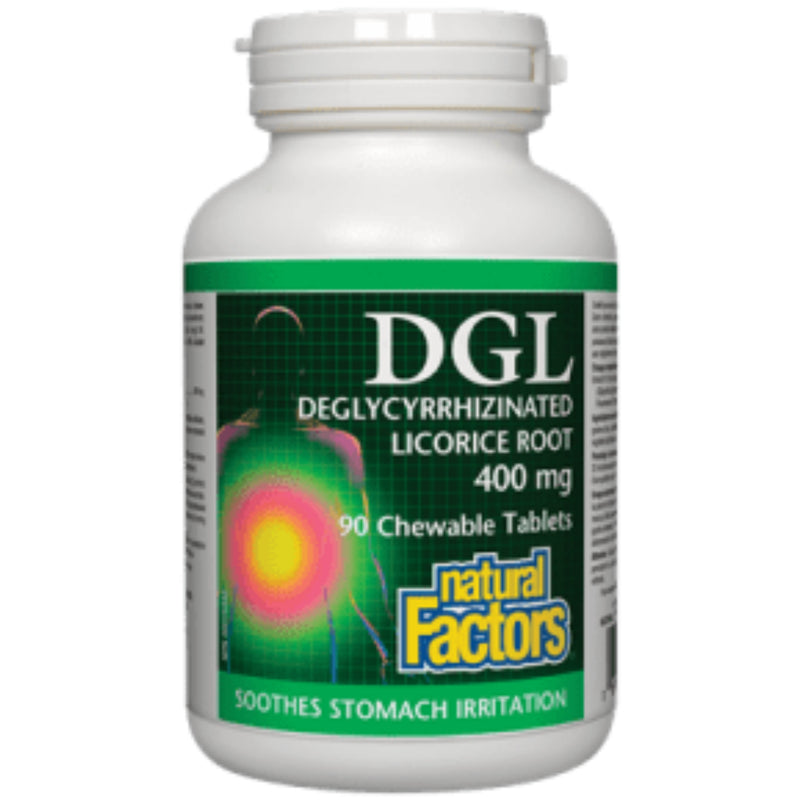 Natural Factors DGL Degylcyrrhizinated Licorice Root 400mg 90chewables