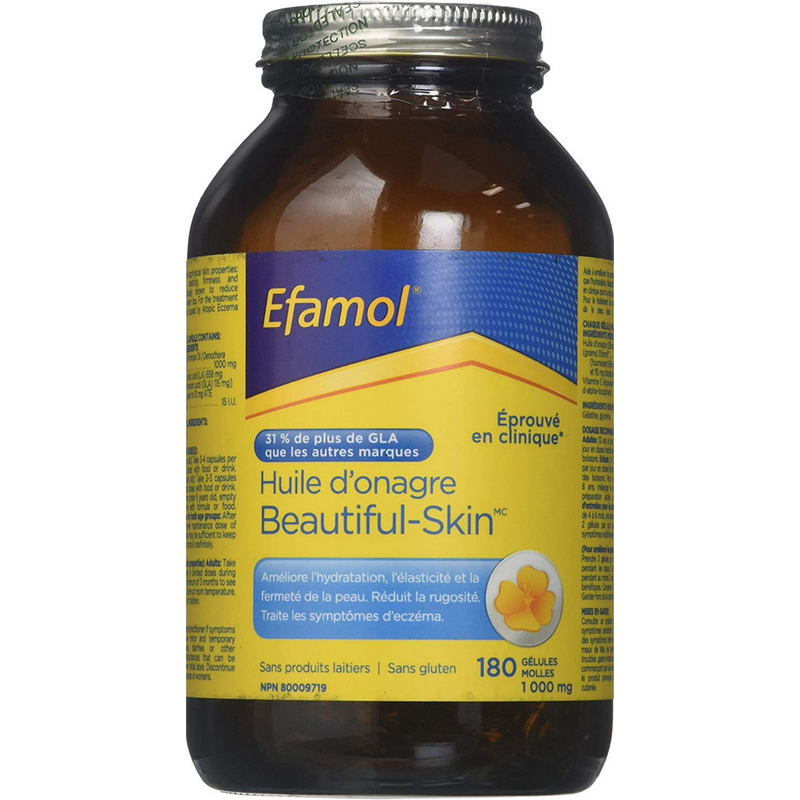 Efamol Beautiful Skin Evening Primrose Oil 1000mg 180 sgels