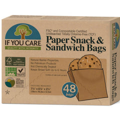 If You Care Paper Snack & Sandwich Bags 48 Sacs