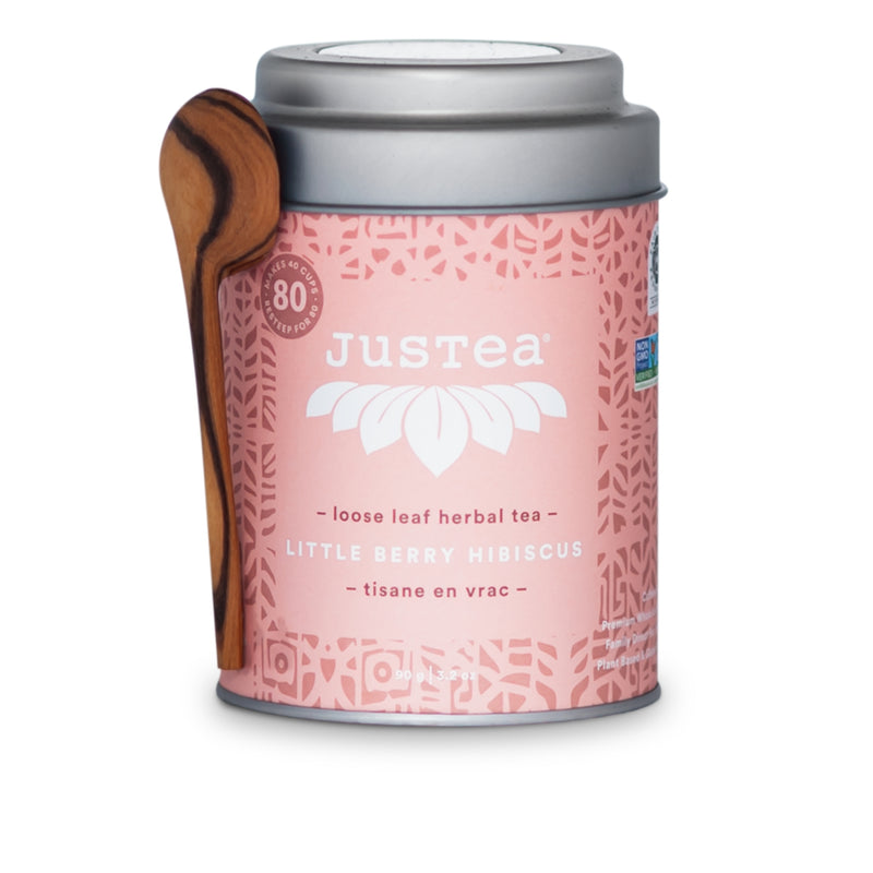 Justea Little Berry Hibiscus Loose Leaf Herbal Tea 90g