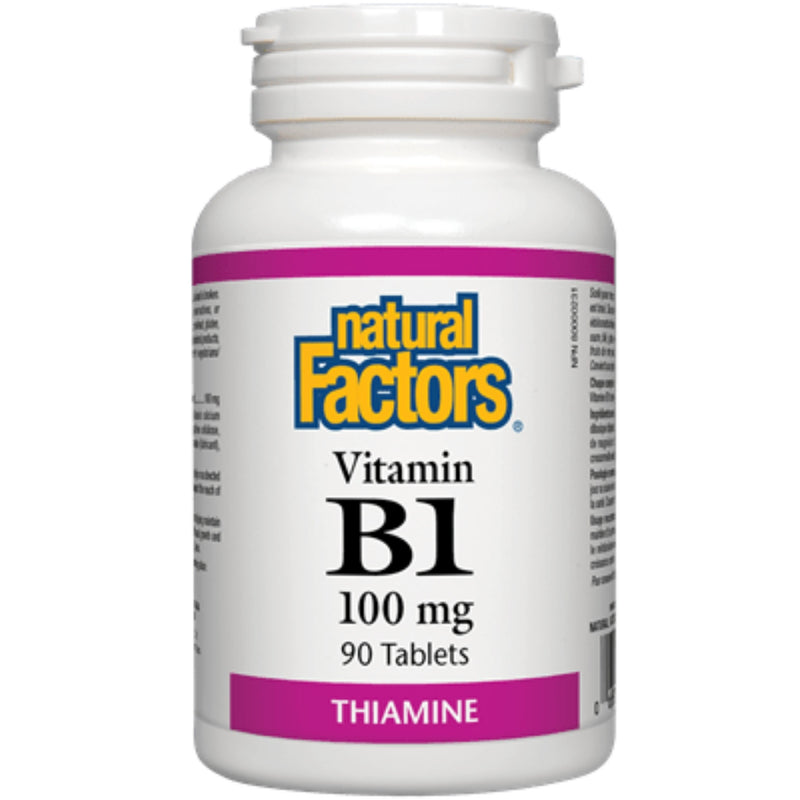 Natural Factors Vitamin B1 100mg 90t