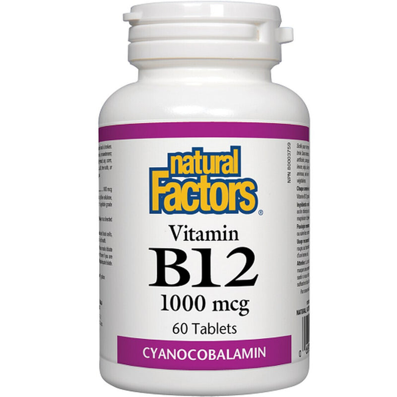 Natural Factors B12 1000mcg  60tabs