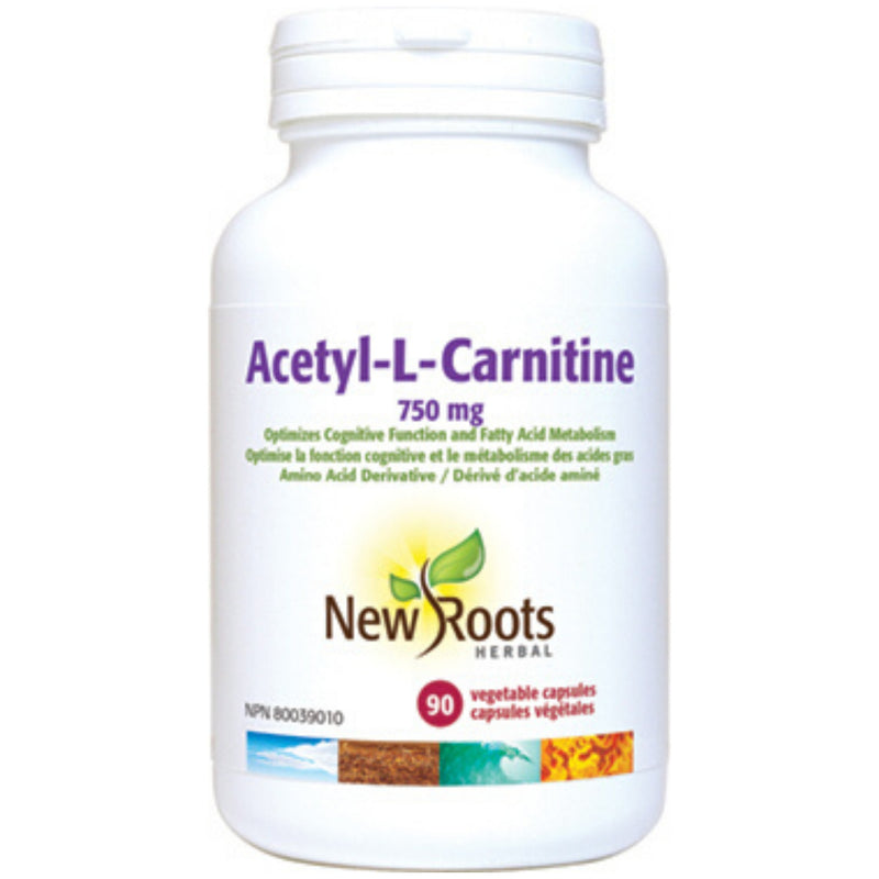 New Roots Acetyl-L-Carnitine 750mg 90vcaps