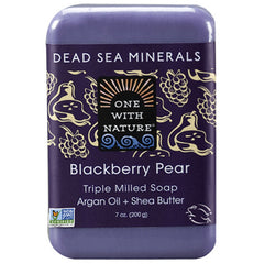 One With Nature Blackberry Pear Mineral Soap 200g