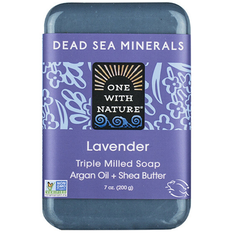 One With Nature Lavender Mineral Soap 200g