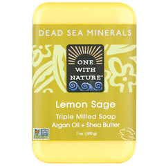 One With Nature Lemon Sage Mineral Soap 200g