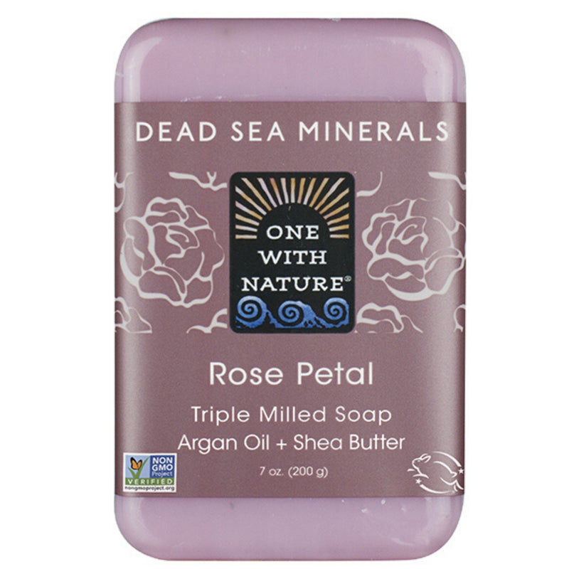 One With Nature Rose Petal Dead Sea Salts & Shea Butter 200g