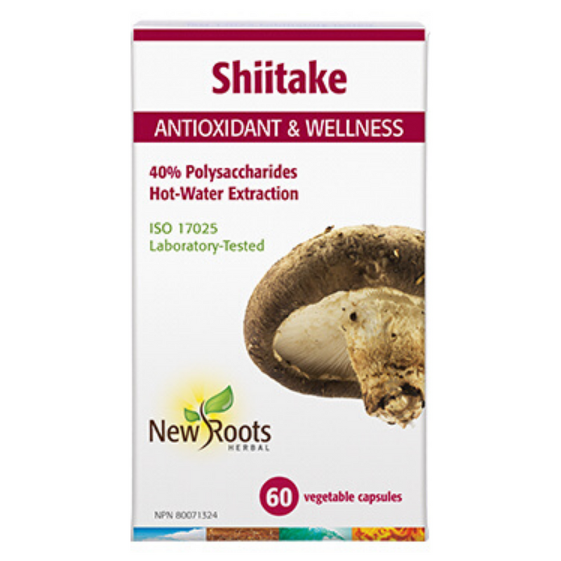 New Roots Shiitake Hot-water Extract 60vcaps