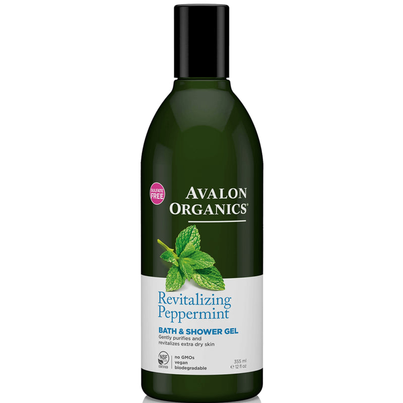 Avalon Organics Revitalizing Peppermint Bath & Shower Gel 355ml