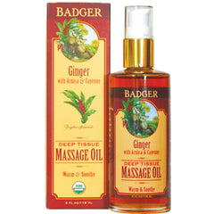 Huile de massage Badger Ginger 118 ml
