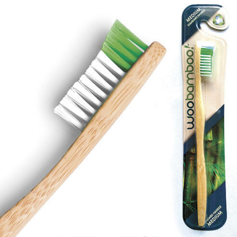 Woobamboo! Adult Medium Bamboo Toothbrush