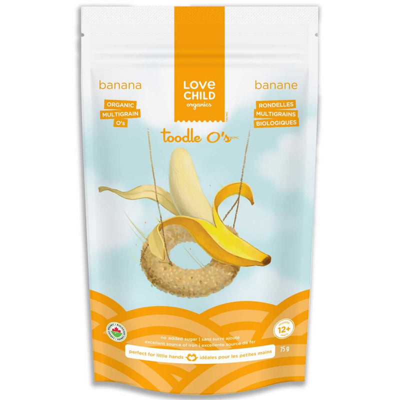 Love Child Organics Toodle O's Banana 75g 12+ months
