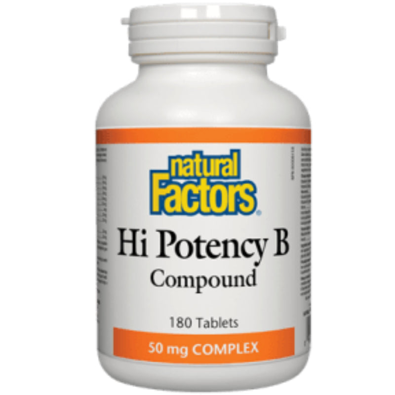 Natural Factors Hi Potency B Compound 50mg 180t