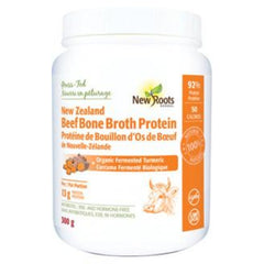 New Roots Beef Bone Broth Protein & Organic Fermented Turmeric 300g