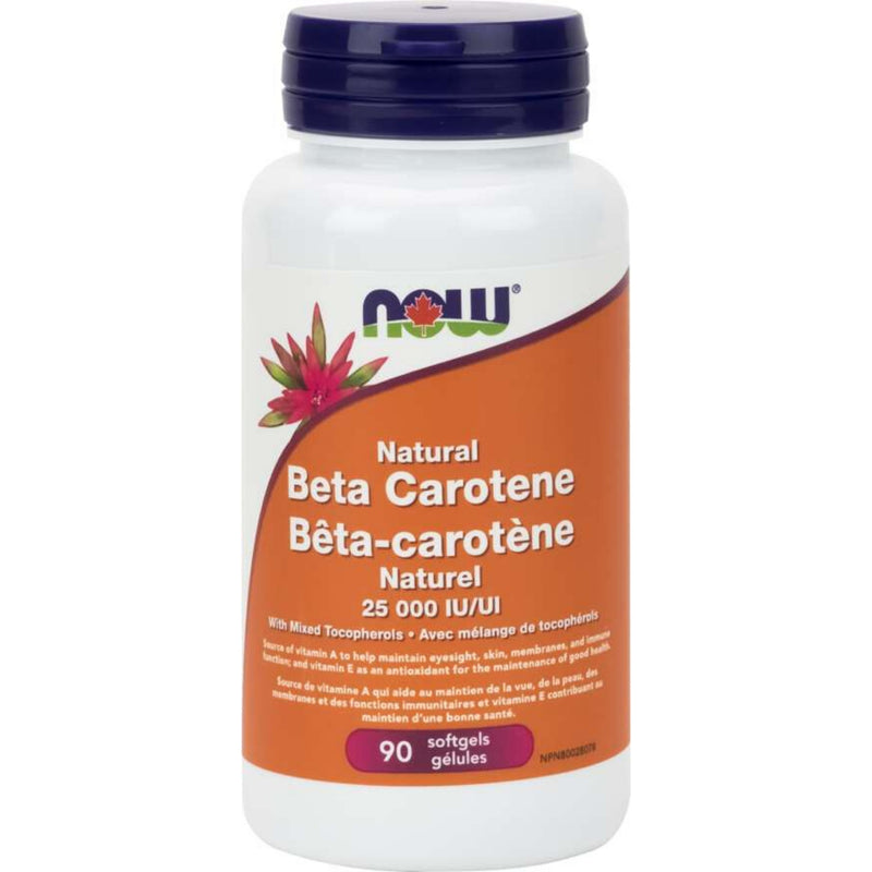 Now Natural Beta-Carotene 25000IU 90sgels