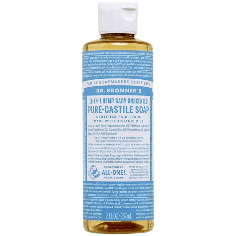 Dr.Bronner's Baby Unscented Pure Castile Soap 237ml