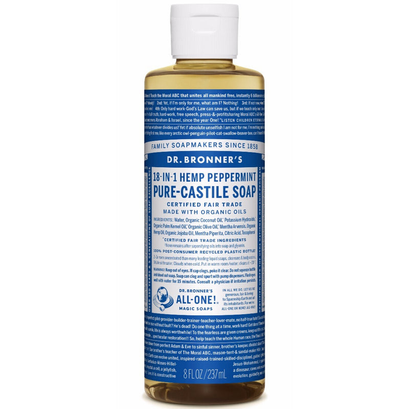 Dr.Bronner's Peppermint Pure Castile Soap 237ml